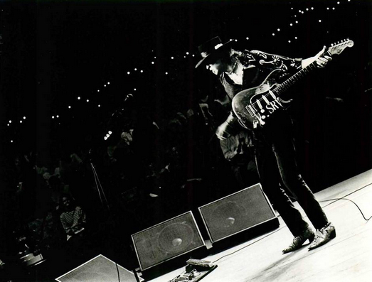 Stevie Ray Vaughan on stage